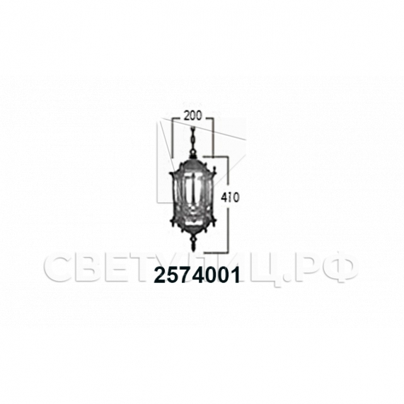 Садово-парковые светильники 1204, 2574, 2573 22