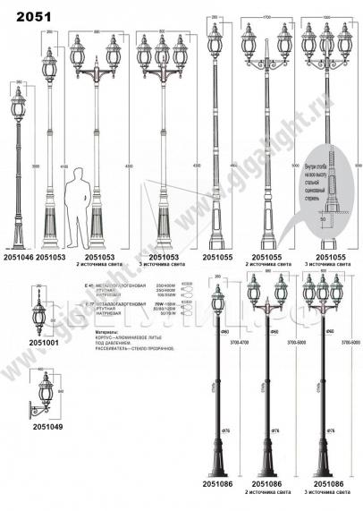 Садово-парковые светильники 1010, 2040, 2051 в Актобе 6