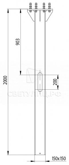 Металлическая светодиодная система уличного освещения Тверь 150 9