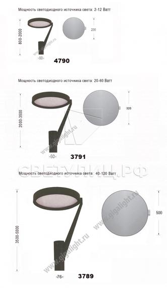 Садово-парковые светильники 3789, 3791, 4790 в Актобе 1