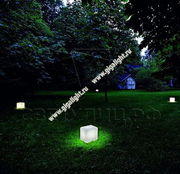 Газонные светильники Грасс Куб 2
