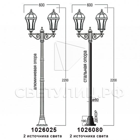 Садово-парковые светильники 1026, 2064 в Актобе 14