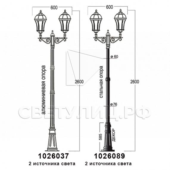 Садово-парковые светильники 1026, 2064 в Актобе 17