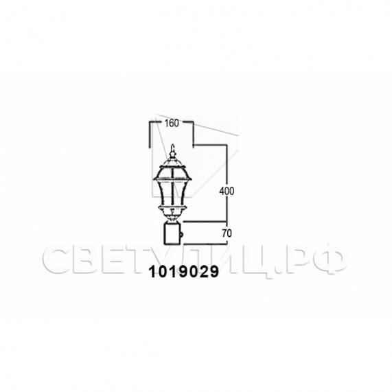 Садово-парковые светильники 1019, 2045 9
