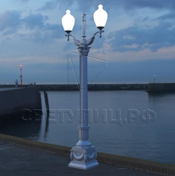 Опора наружного освещения литая чугунная Сталинград в Актобе 4
