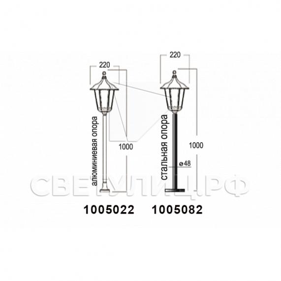 Садово-парковые светильники 1001, 1005, 2036, 2037 в Актобе 18