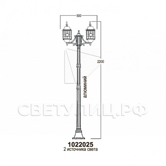 Садово-парковые светильники 1022, 2046 14