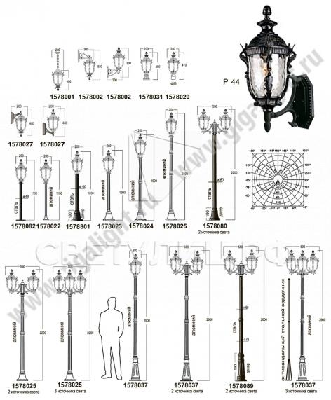 Садово-парковые светильники 1578 в Актобе 1