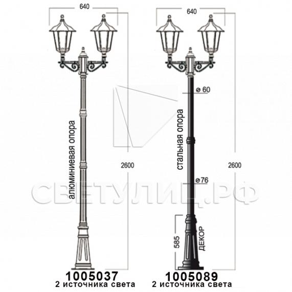 Садово-парковые светильники 1001, 1005, 2036, 2037 в Актобе 25