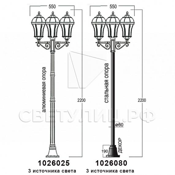 Садово-парковые светильники 1026, 2064 в Актобе 15