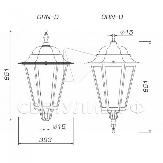 Светильник уличный классический светодиодный Ораниенбаум 4