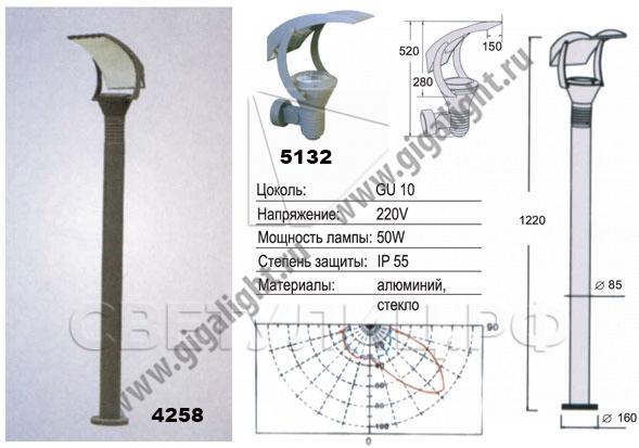 Газонные светильники 4258 1