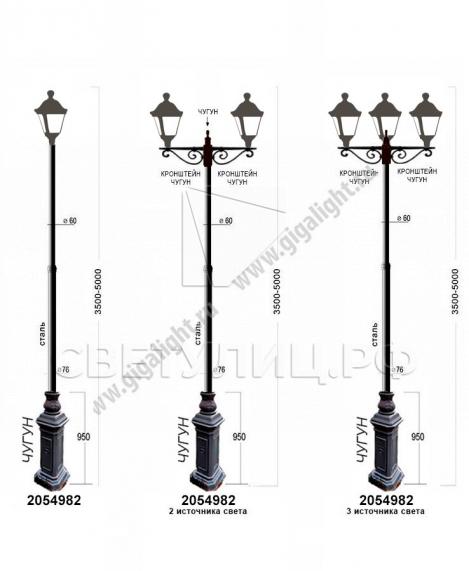 Садово-парковые светильники 2054 4