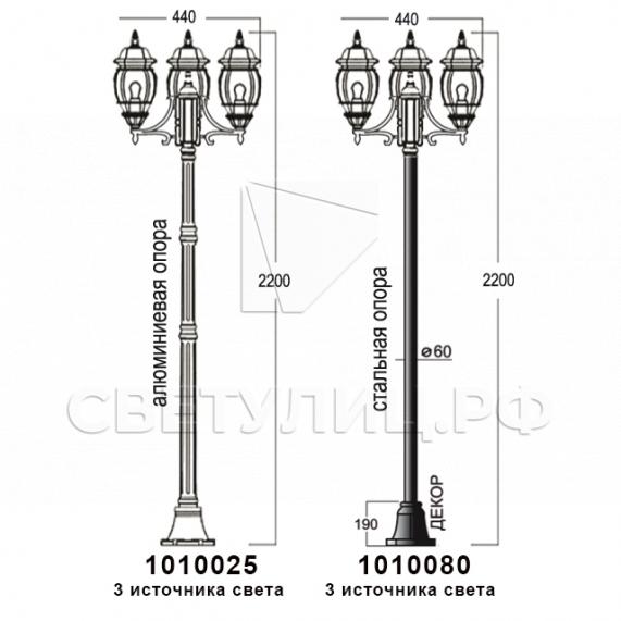 Садово-парковые светильники 1010, 2040, 2051 в Актобе 20