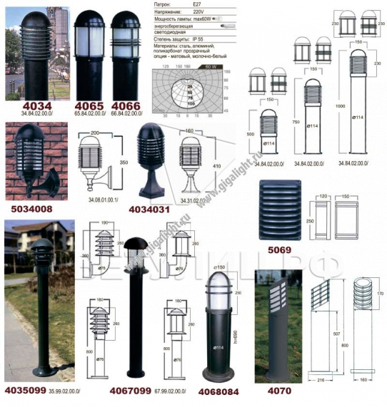 Ландшафтные светильники 4034, 4065, 4066, 4035, 4067, 4068, 4070, 5069 в Актобе 1
