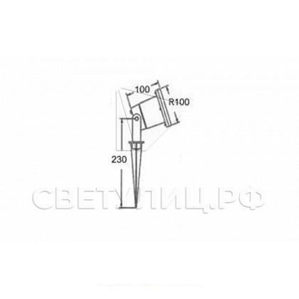 Ландшафтный светильник ТЕРРА 02 LED 12 1