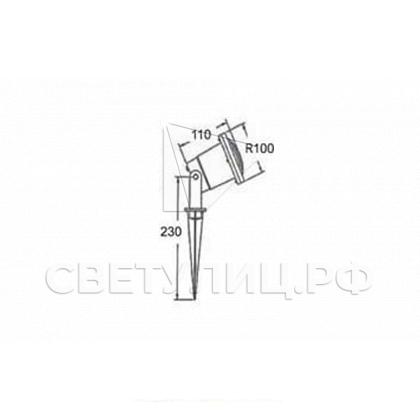 Ландшафтный светильник ТЕРРА 01 LED 220 в Актобе 1