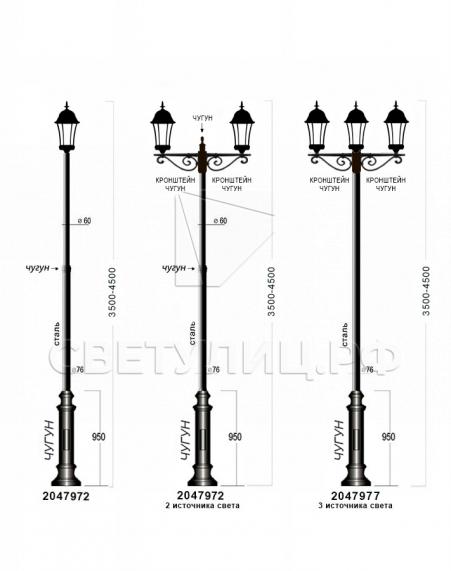 Садово-парковые светильники 1028, 2047 6