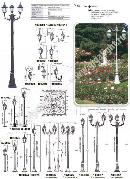 Садово-парковые светильники 1030 в Актобе 1