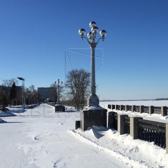 Опора наружного освещения литая чугунная Сталинград в Актобе 6
