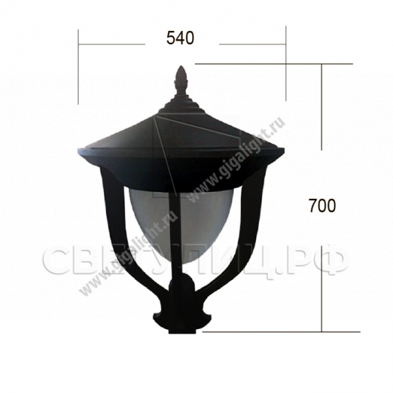 Садово-парковые светильники 2862 1