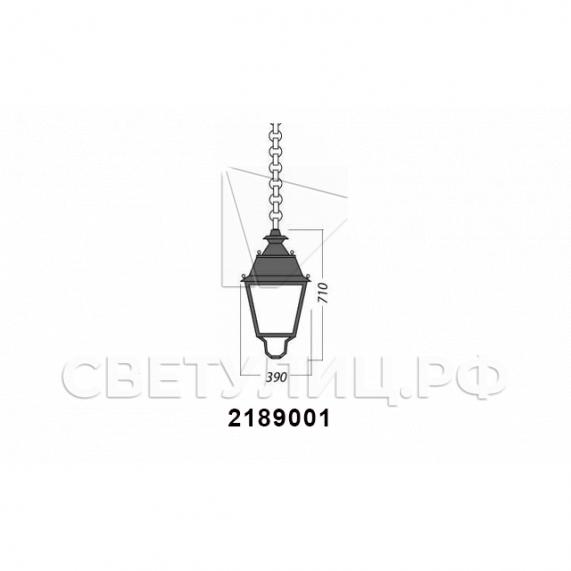 Садово-парковые светильники 1002, 1009, 2039, 2189 39