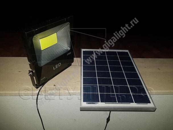 Прожектор светодиодный на солнечной батарее 30 Вт - 5853 в Актобе 2