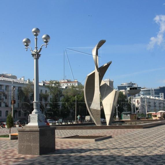 Опора наружного освещения литая чугунная Сталинград в Актобе 5