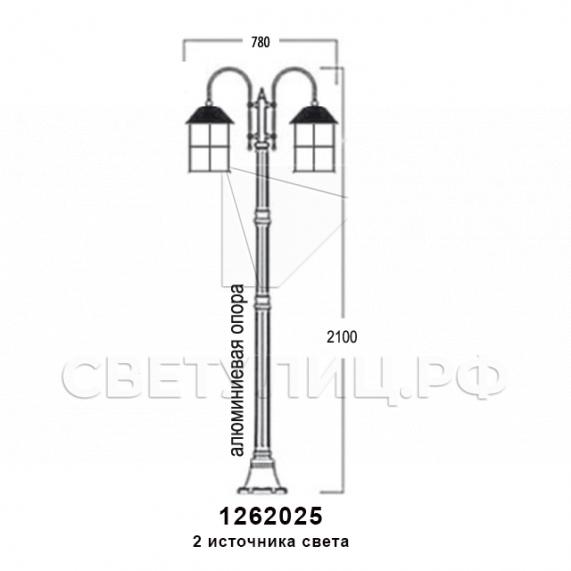 Садово-парковые светильники 1262 5