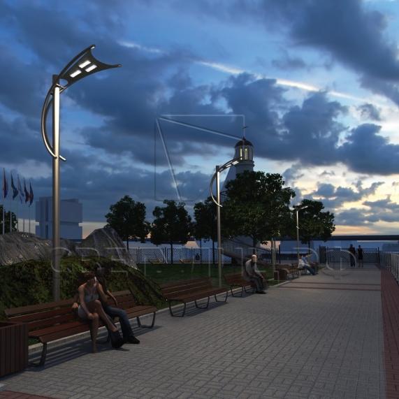 Уличная светодиодная система освещения ПАРУС в Актобе 2