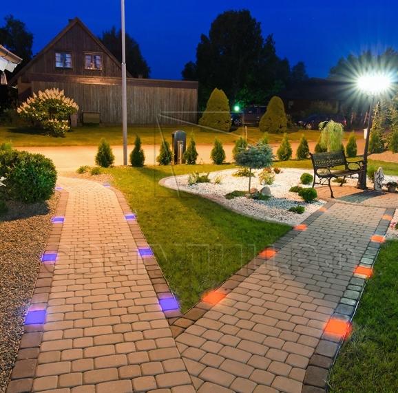 Грунтовый светильник LED брусчатка 3