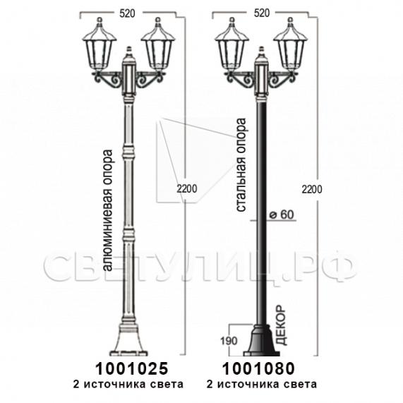 Садово-парковые светильники 1001, 1005, 2036, 2037 в Актобе 8
