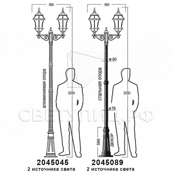 Садово-парковые светильники 1019, 2045 31