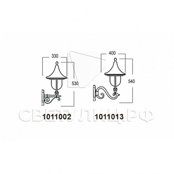 Садово-парковые светильники 1011 5