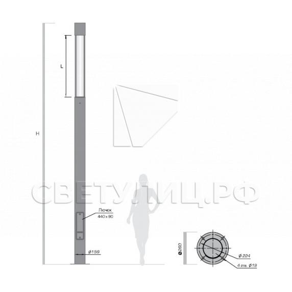 Светодиодный уличный фонарь Реплэй 159 2