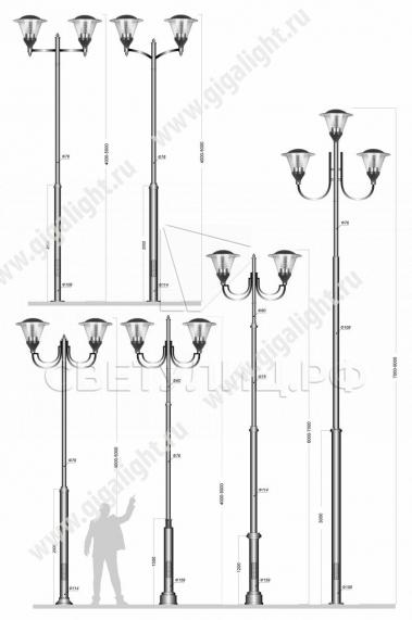 Садово-парковые светильники 3056 в Актобе 4