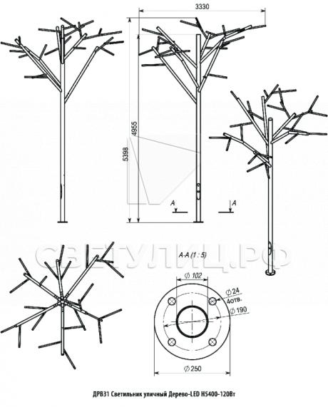 LED-дерево 1