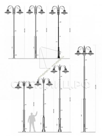 Садово-парковые светильники 1500, 2342 в Актобе 8