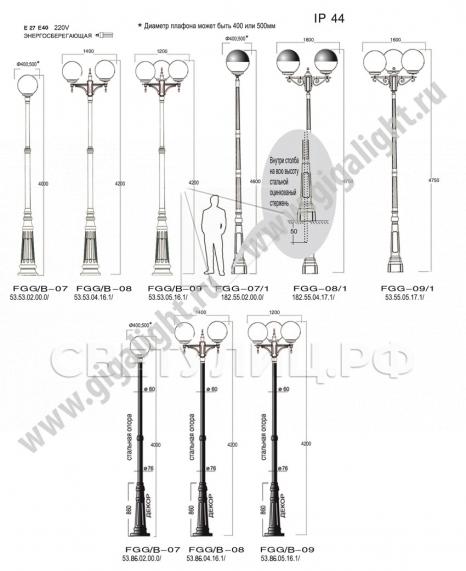 Садово-парковые светильники Лисбона-Гигант в Актобе 1