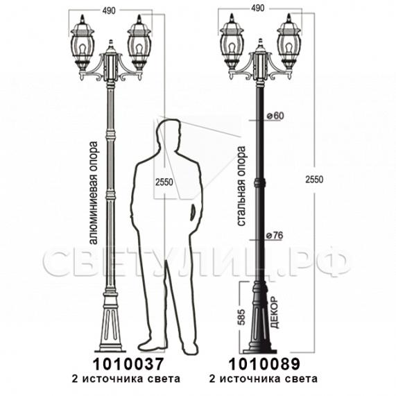 Садово-парковые светильники 1010, 2040, 2051 в Актобе 22