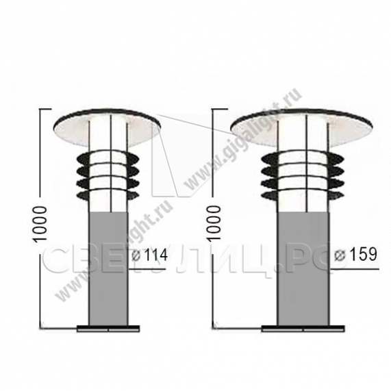Садово-парковые светильники 4863 1